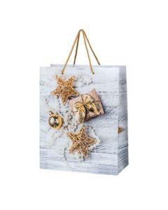 """Weihnachtliche Lackpapier-Geschenktasche """"Noelle"""""""