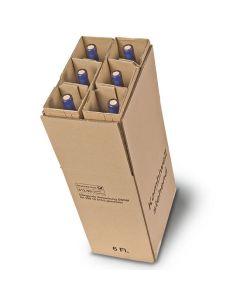 Flaschenkarton stehend mit 6er Einlage