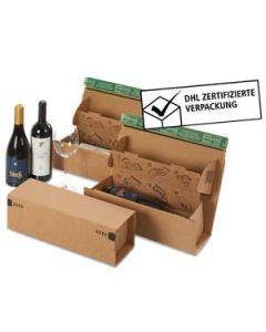 Weinbox für 1 Flasche braun