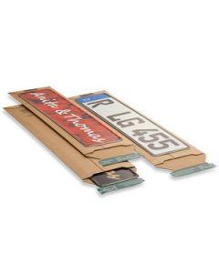 Versandtasche braun für KFZ-Kennzeichen