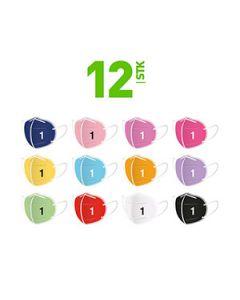 FFP2 Masken Set mit 12 Farben für Damen