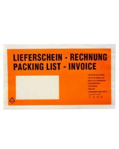 """Begleitpapiertaschen DINlg """"Lfs/Rg"""" Orange"""