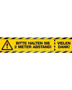 Fußbodenaufkleber, gelb/schwarz, 695 x 150 mm