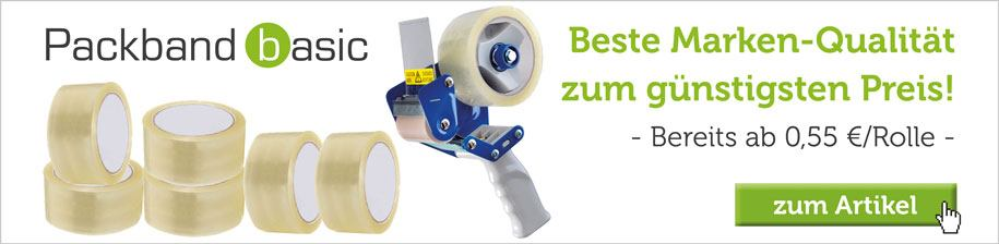 Packband kaufen - bereits ab 0,55 € pro Rolle