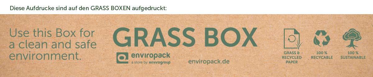 Aufdrucke der Grass Boxen