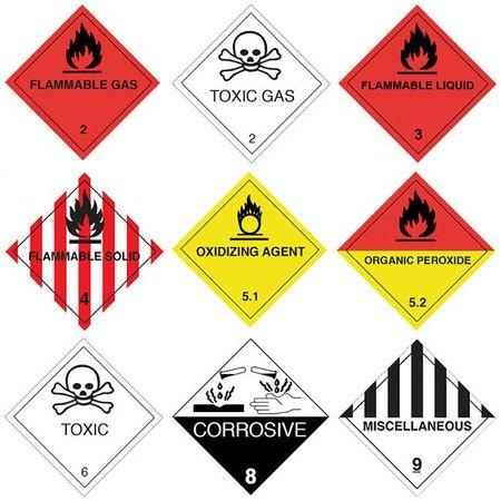 Gefahrstoffetiketten