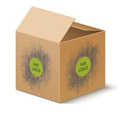 Karton mit Logo