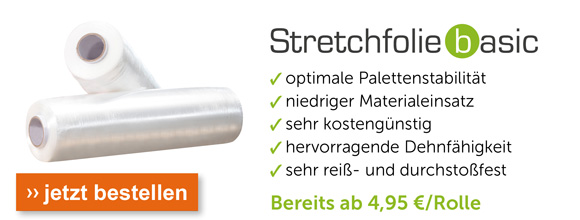 Stretchfolie Basic - bereits ab 4,95 pro Rolle